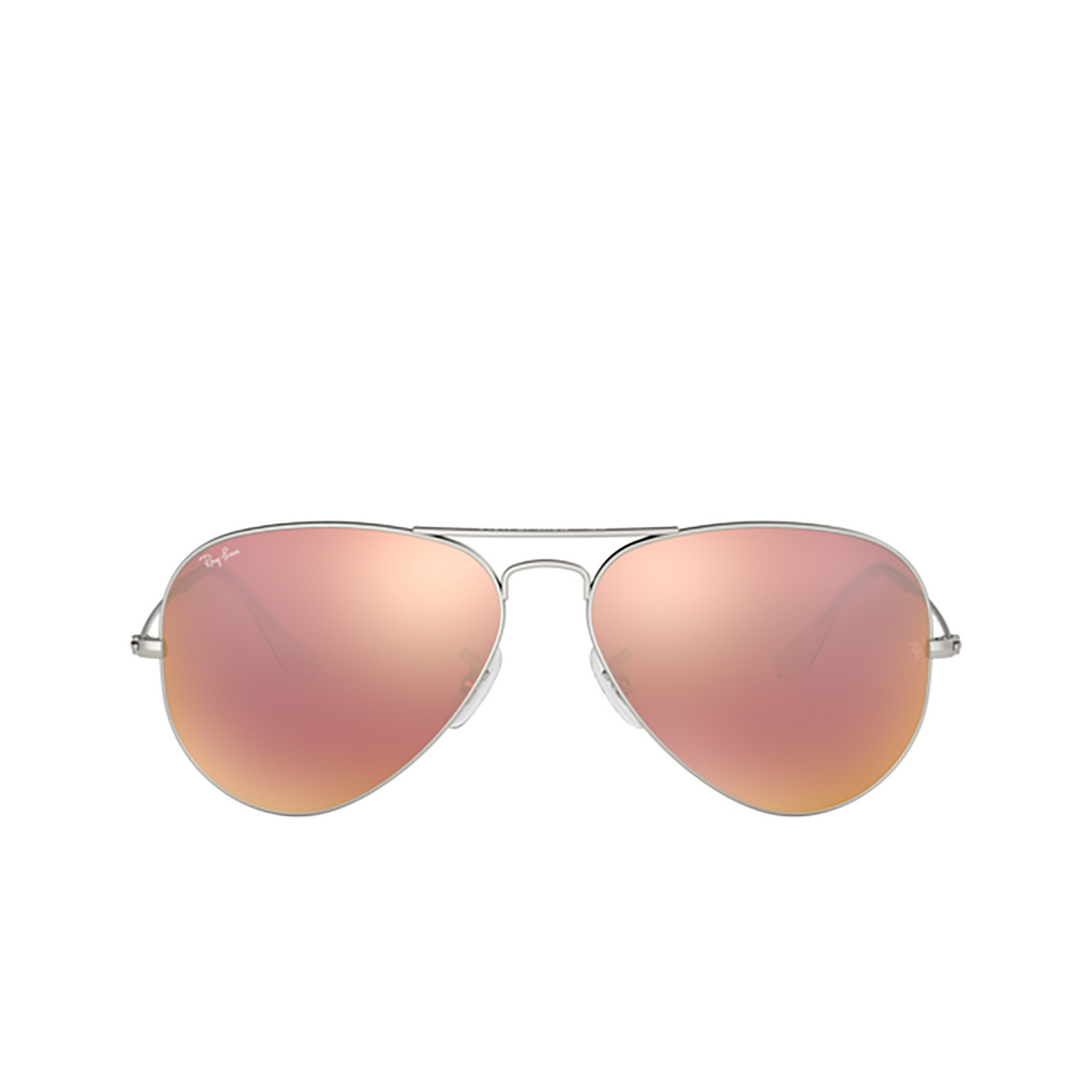 Ray-Ban® Aviator Sunglasses: Aviator Large Metal RB3025 color Matte Silver 019/Z2.