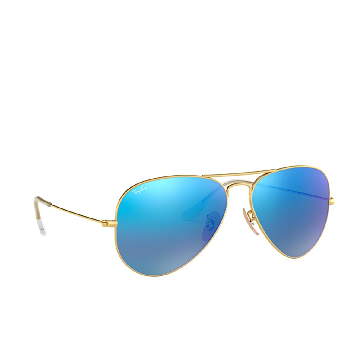 Ray-Ban® Aviator Sunglasses: Aviator Large Metal RB3025 color Matte Arista 112/17.