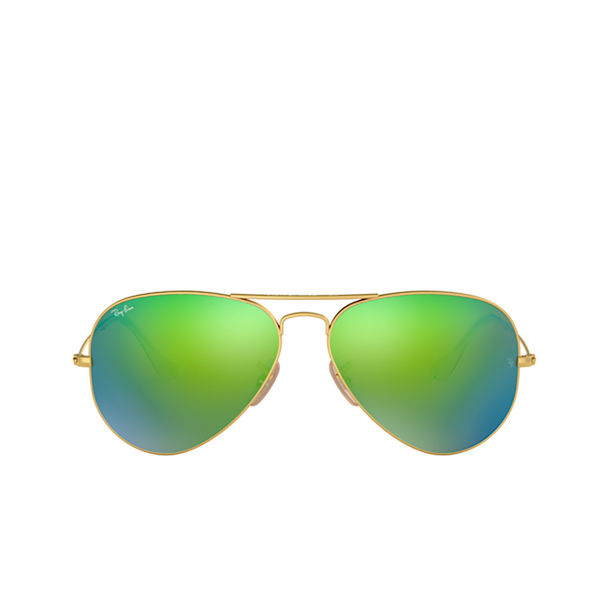 Ray-Ban® Aviator Sunglasses: Aviator Large Metal RB3025 color Matte Arista 112/19 - front view.