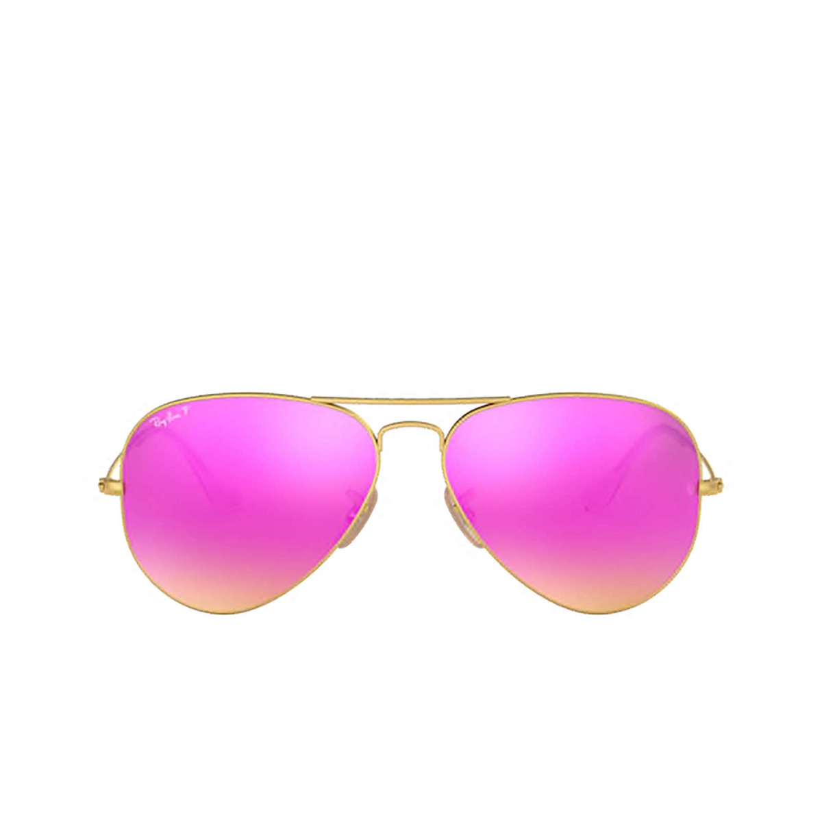 Ray-Ban® Aviator Sunglasses: Aviator Large Metal RB3025 color Matte Arista 112/1Q - front view.