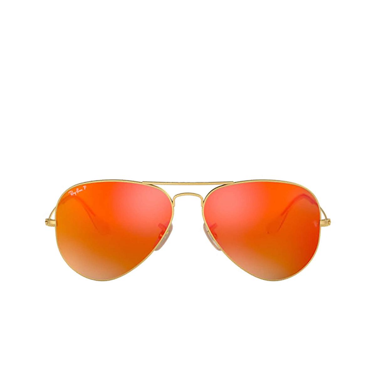 Ray-Ban® Aviator Sunglasses: Aviator Large Metal RB3025 color Matte Arista 112/4D.