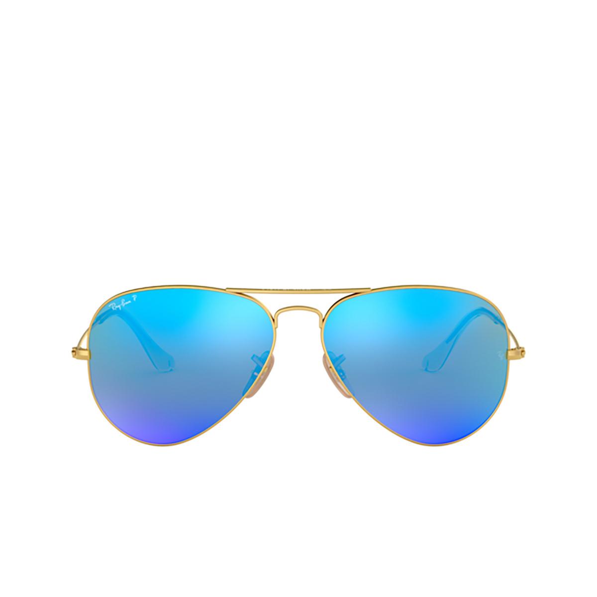 Ray-Ban® Aviator Sunglasses: Aviator Large Metal RB3025 color Matte Arista 112/4L.