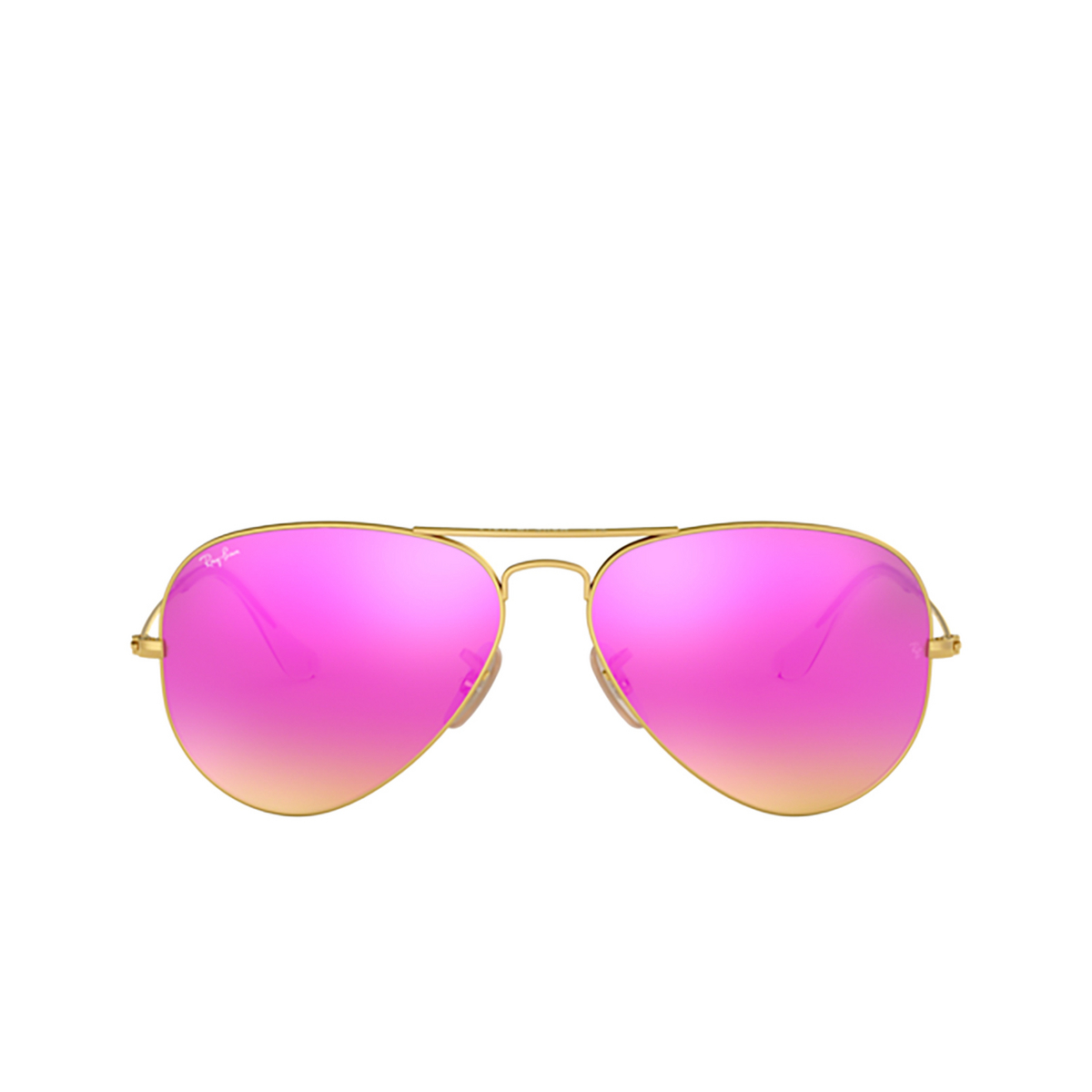 Ray-Ban® Aviator Sunglasses: Aviator Large Metal RB3025 color Matte Arista 112/4T - front view.