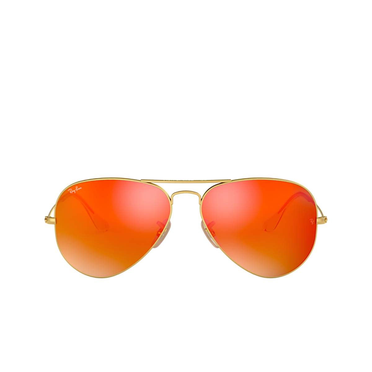 Ray-Ban® Aviator Sunglasses: Aviator Large Metal RB3025 color Matte Arista 112/69 - front view.