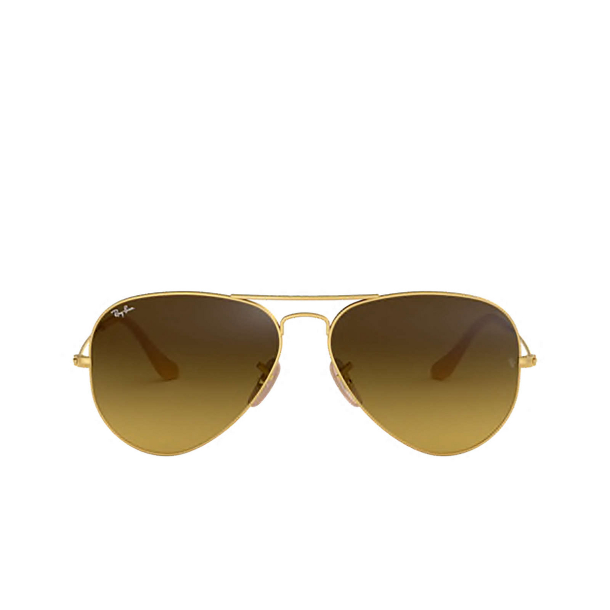 Ray-Ban® Aviator Sunglasses: Aviator Large Metal RB3025 color Matte Arista 112/85 - front view.