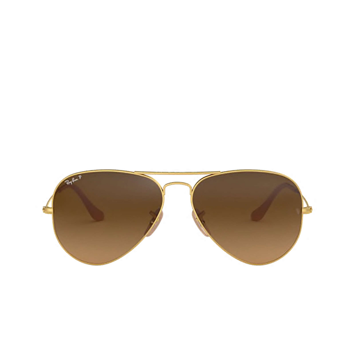 Ray-Ban® Aviator Sunglasses: Aviator Large Metal RB3025 color Matte Arista 112/M2 - front view.