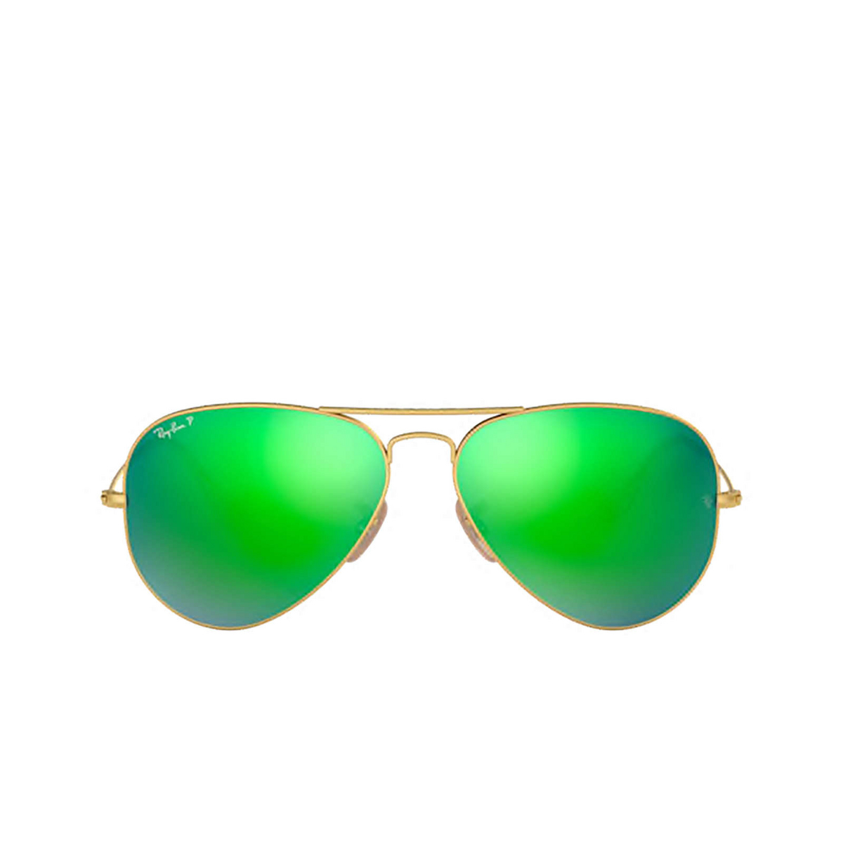 Ray-Ban® Aviator Sunglasses: Aviator Large Metal RB3025 color Matte Arista 112/P9 - front view.
