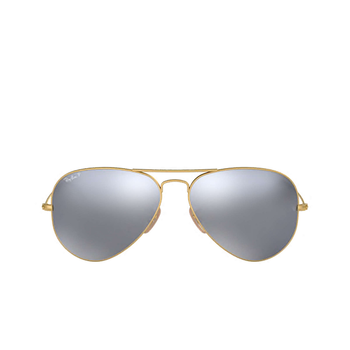 Ray-Ban® Aviator Sunglasses: Aviator Large Metal RB3025 color Matte Arista 112/W3 - front view.