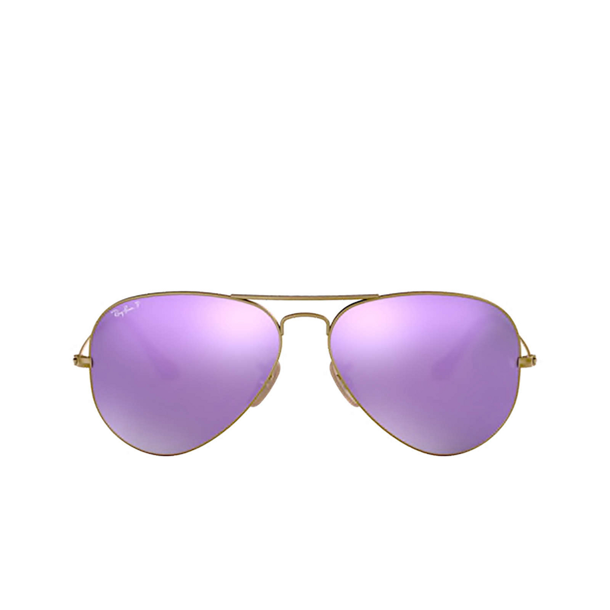 Ray-Ban® Aviator Sunglasses: Aviator Large Metal RB3025 color Demi Gloss Brushed Bronze 167/1R - front view.