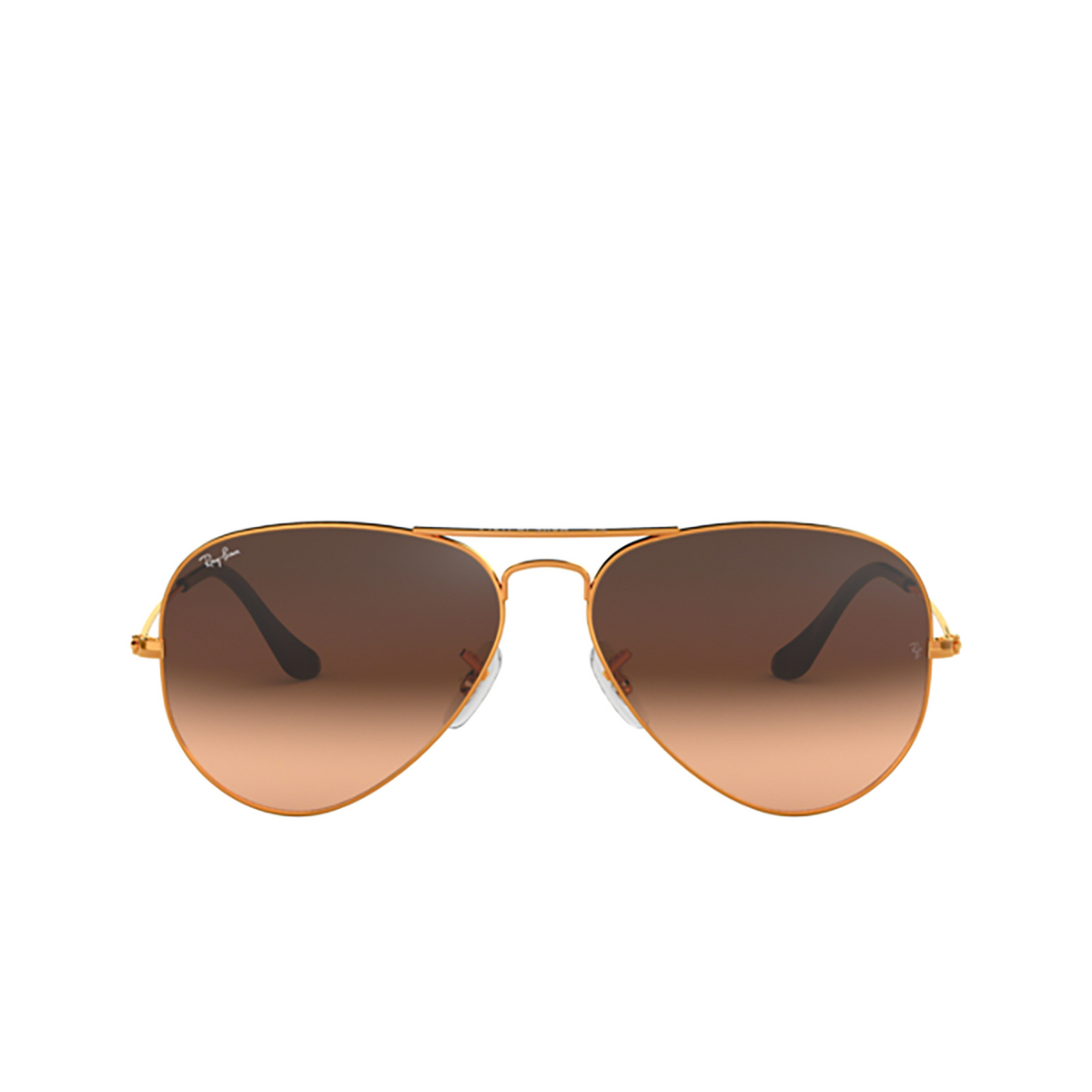 Ray-Ban® Aviator Sunglasses: Aviator Large Metal RB3025 color Light Bronze 9001A5 - front view.