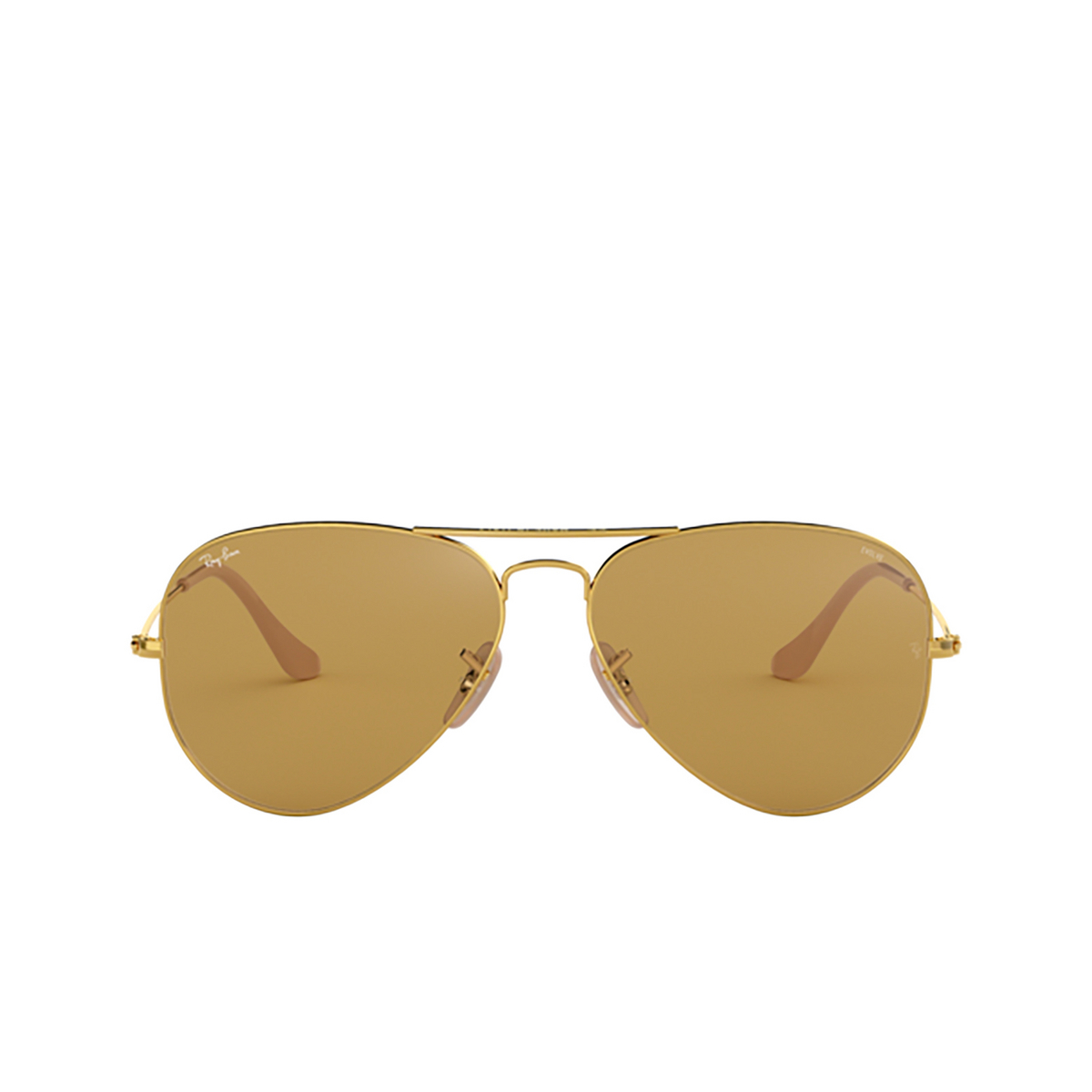 Ray-Ban® Aviator Sunglasses: Aviator Large Metal RB3025 color Arista 90644I - front view.