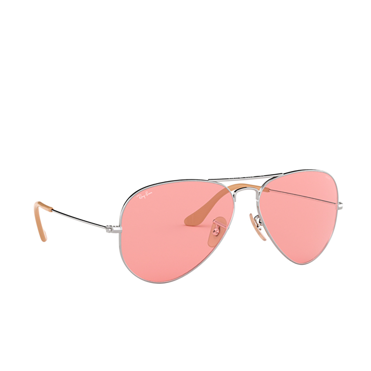 Ray-Ban® Aviator Sunglasses: Aviator Large Metal RB3025 color Silver 9065V7.
