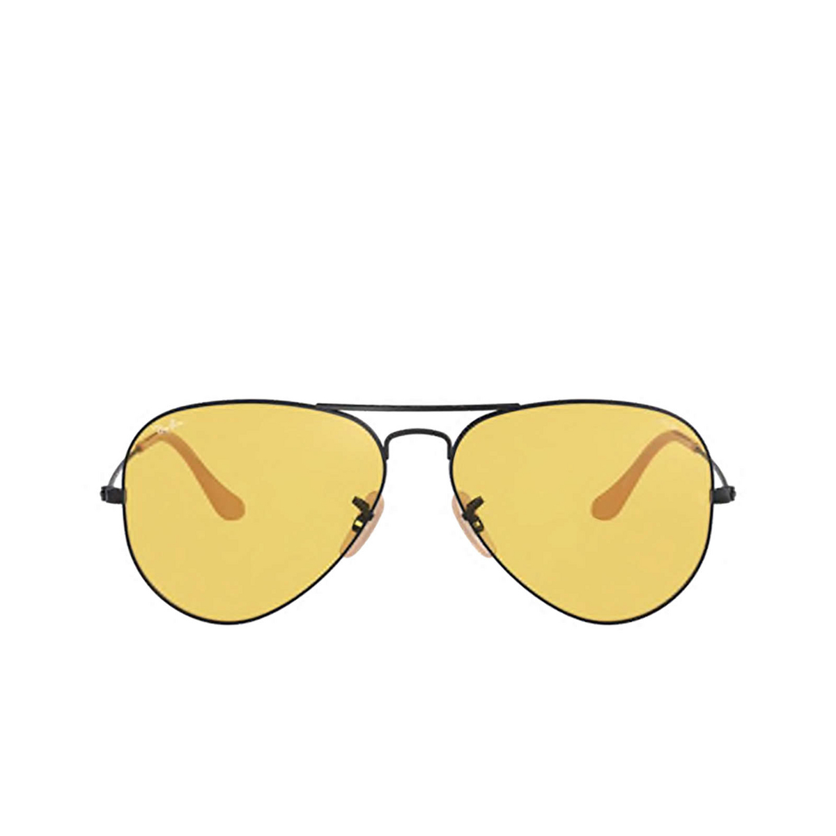 Ray-Ban® Aviator Sunglasses: Aviator Large Metal RB3025 color Matte Black 90664A.