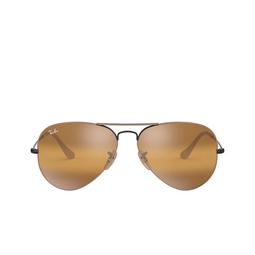 Ray-Ban® Sunglasses: Aviator Large Metal RB3025 color Matte Beige On Black 9153AG.