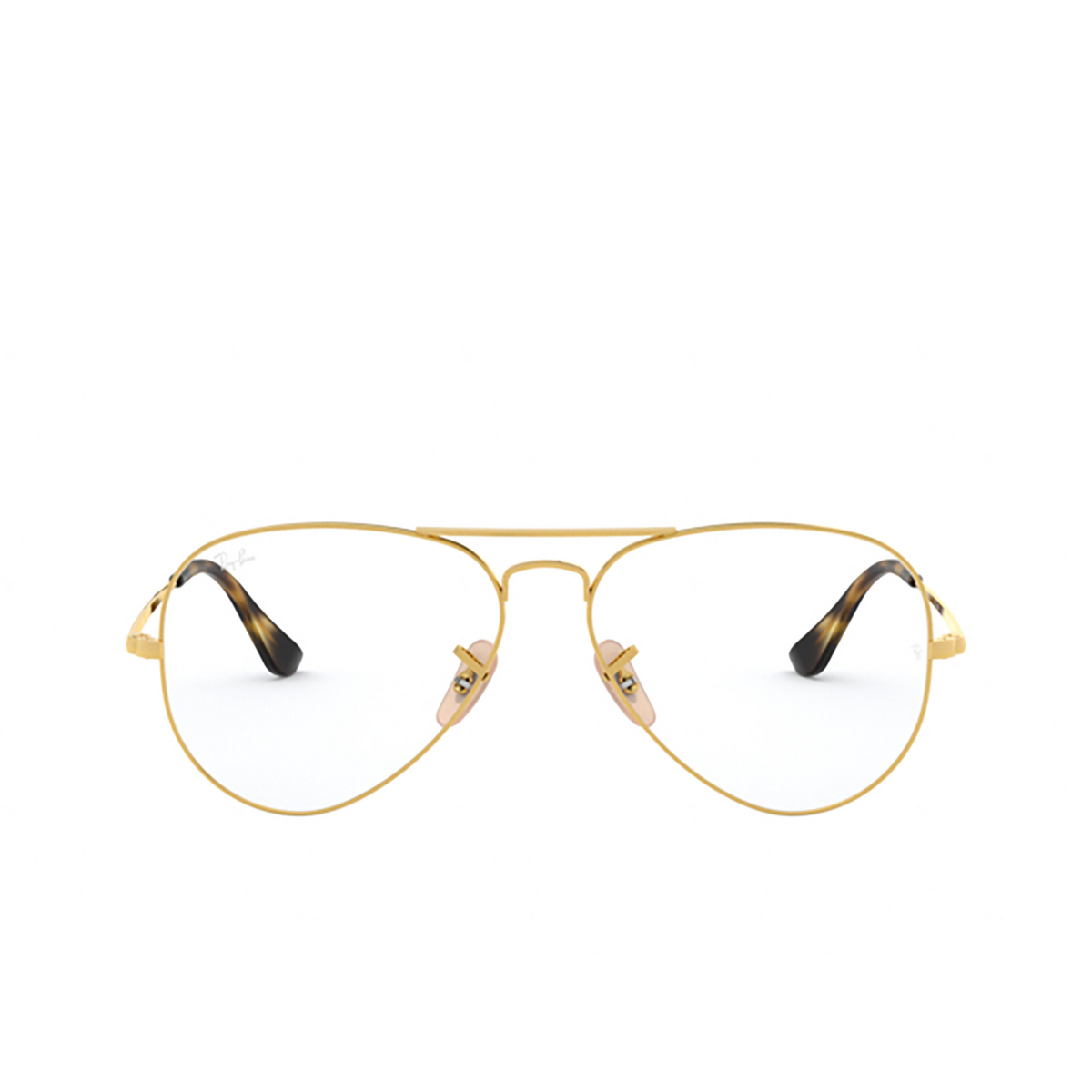 Ray-Ban® Aviator Eyeglasses: Aviator RX6489 color Arista 2500.