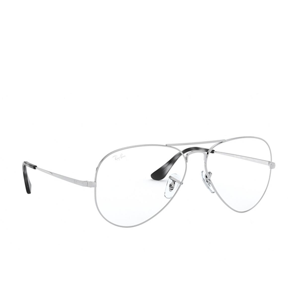 Ray-Ban® Aviator Eyeglasses: Aviator RX6489 color Silver 2501.