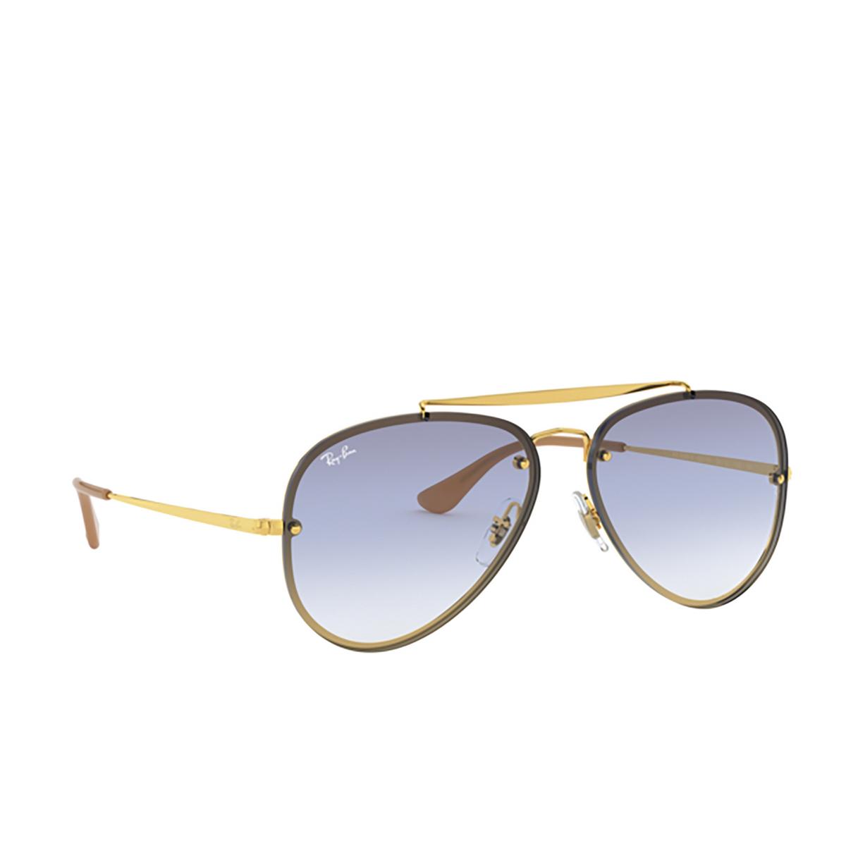 Ray-Ban® Aviator Sunglasses: Blaze Aviator RB3584N color Arista 001/19 - 2/3.