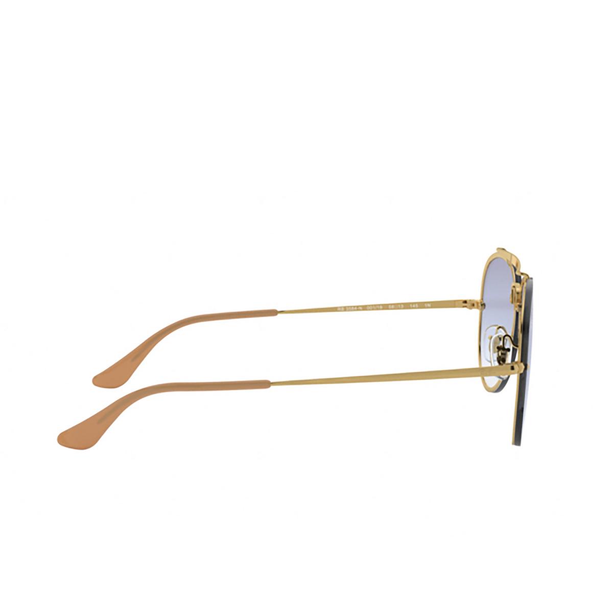 Ray-Ban® Aviator Sunglasses: Blaze Aviator RB3584N color Arista 001/19 - 3/3.