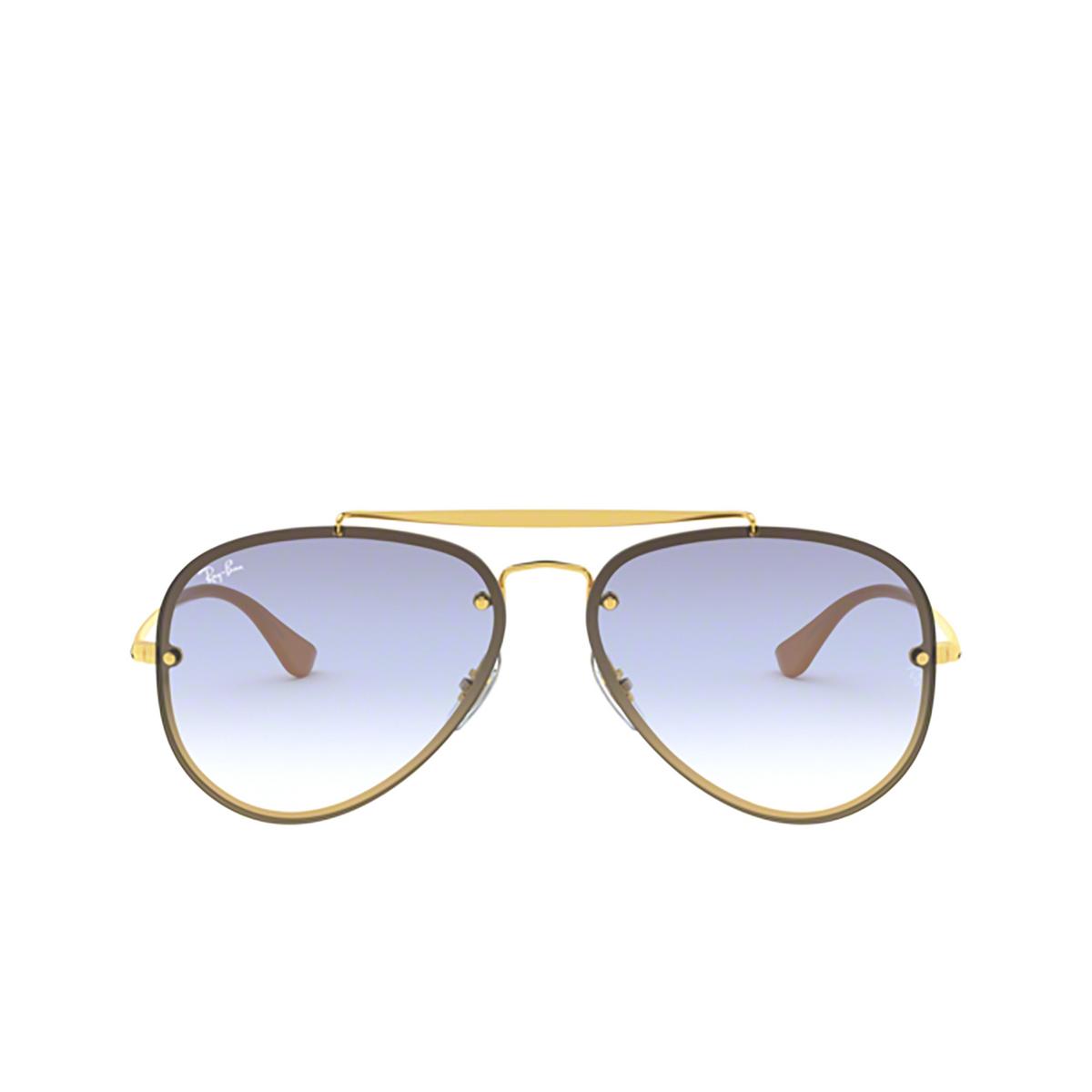Ray-Ban® Aviator Sunglasses: Blaze Aviator RB3584N color Arista 001/19 - 1/3.