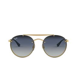 Ray-Ban® Sunglasses: Blaze Round Doublebridge RB3614N color Demi Gloss Gold 91400S.