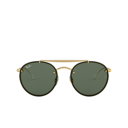 Ray-Ban® Sunglasses: Blaze Round Doublebridge RB3614N color Demi Gloss Gold 914071.