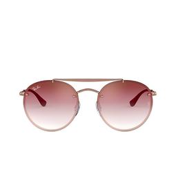 Ray-Ban® Sunglasses: Blaze Round Doublebridge RB3614N color Demi Gloss Copper 91410T.