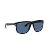Ray-Ban® Square Sunglasses: Boyfriend RB4147 color Black 601/80 - product thumbnail 2/3.