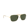 Ray-Ban® Square Sunglasses: Caravan RB3136 color Arista 001 - product thumbnail 2/3.