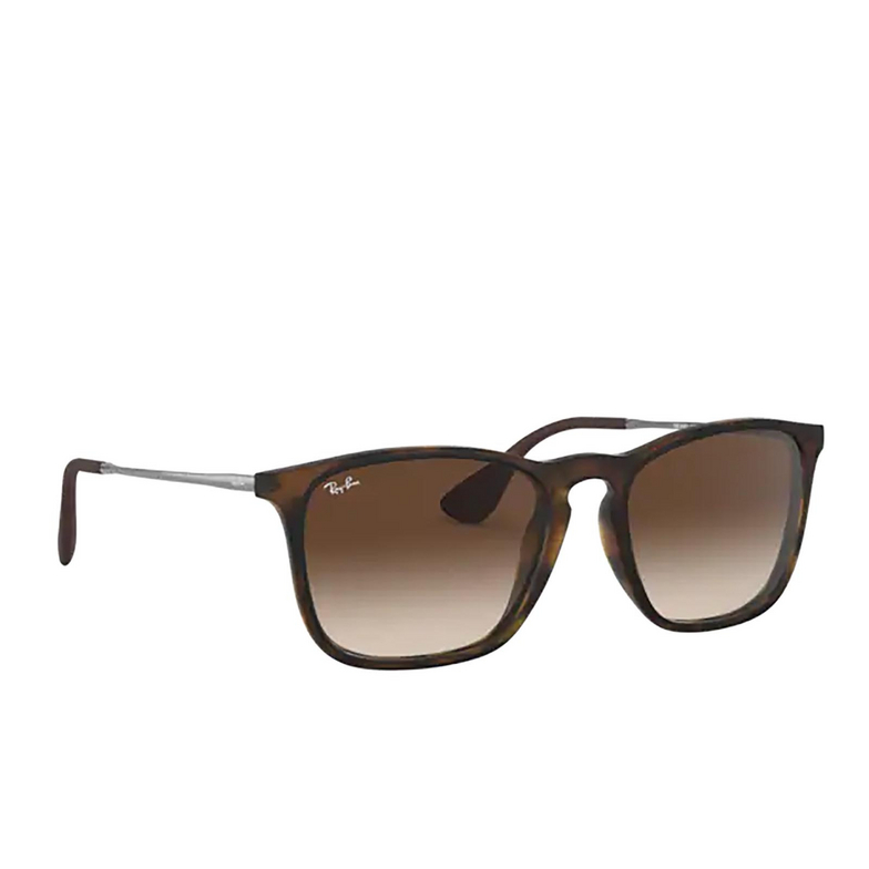Ray-Ban® Square Sunglasses: Chris RB4187F color Havana Rubber 856/13.