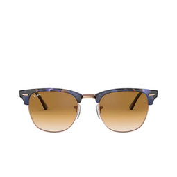Ray-Ban® Square Sunglasses: Clubmaster RB3016 color Spotted Brown / Blue 125651.