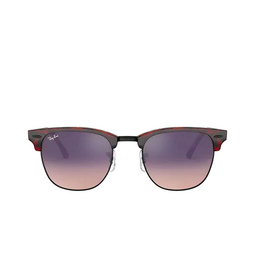 Ray-Ban® Square Sunglasses: Clubmaster RB3016 color Transparent Red On Havana 12753B.