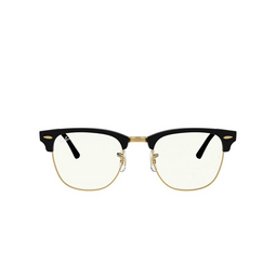 Ray-Ban® Square Sunglasses: Clubmaster RB3016 color Black 901/BF.