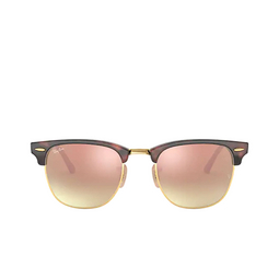Ray-Ban® Square Sunglasses: Clubmaster RB3016 color Shiny Red / Havana 990/7O.
