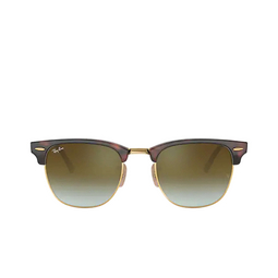 Ray-Ban® Square Sunglasses: Clubmaster RB3016 color Red Havana 990/9J.