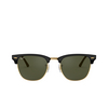 Ray-Ban® Square Sunglasses: Clubmaster RB3016 color Black On Arista W0365 - product thumbnail 1/3.