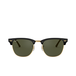 Ray-Ban® Square Sunglasses: Clubmaster RB3016 color Black On Arista W0365.