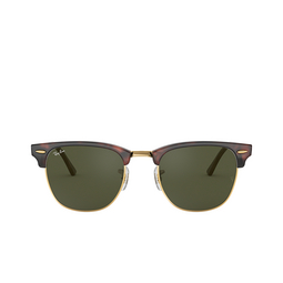 Ray-Ban® Square Sunglasses: Clubmaster RB3016 color Mock Tortoise / Arista W0366.