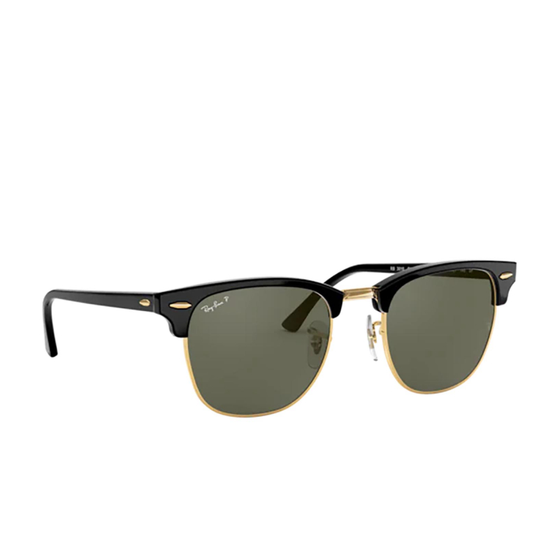 Ray-Ban® Square Sunglasses: Clubmaster RB3016F color Black 901/58.