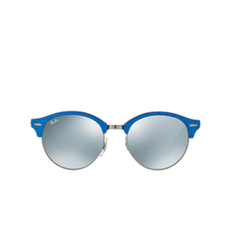 Ray-Ban® Sunglasses: Clubround RB4246 color Top Wrinkled Blu On Black 984/30.