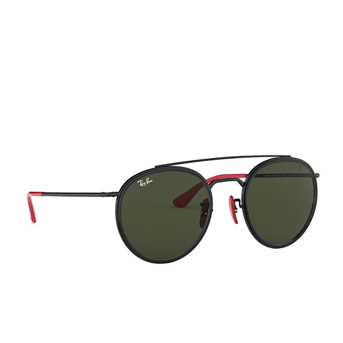 Ray-Ban® Round Sunglasses: Ferrari RB3647M color Black F02831 - 2/3.