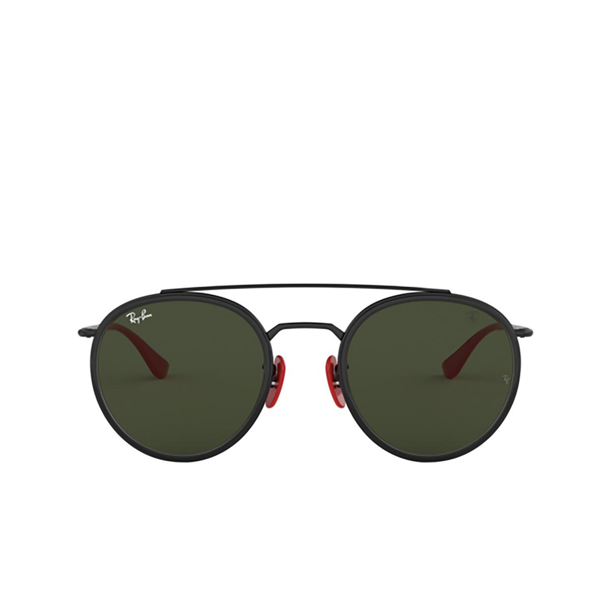 Ray-Ban® Round Sunglasses: Ferrari RB3647M color Black F02831 - 1/3.