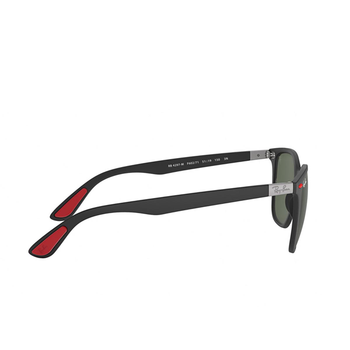 Ray-Ban® Square Sunglasses: Ferrari RB4297M color Matte Black F60271 - 3/3.