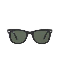 Ray-Ban® Sunglasses: Folding Wayfarer RB4105 color Matte Black 601S.