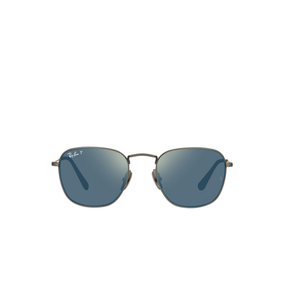 Ray-Ban® Square Sunglasses: Frank RB8157 color Demigloss Gunmetal 9208T0 - front view.