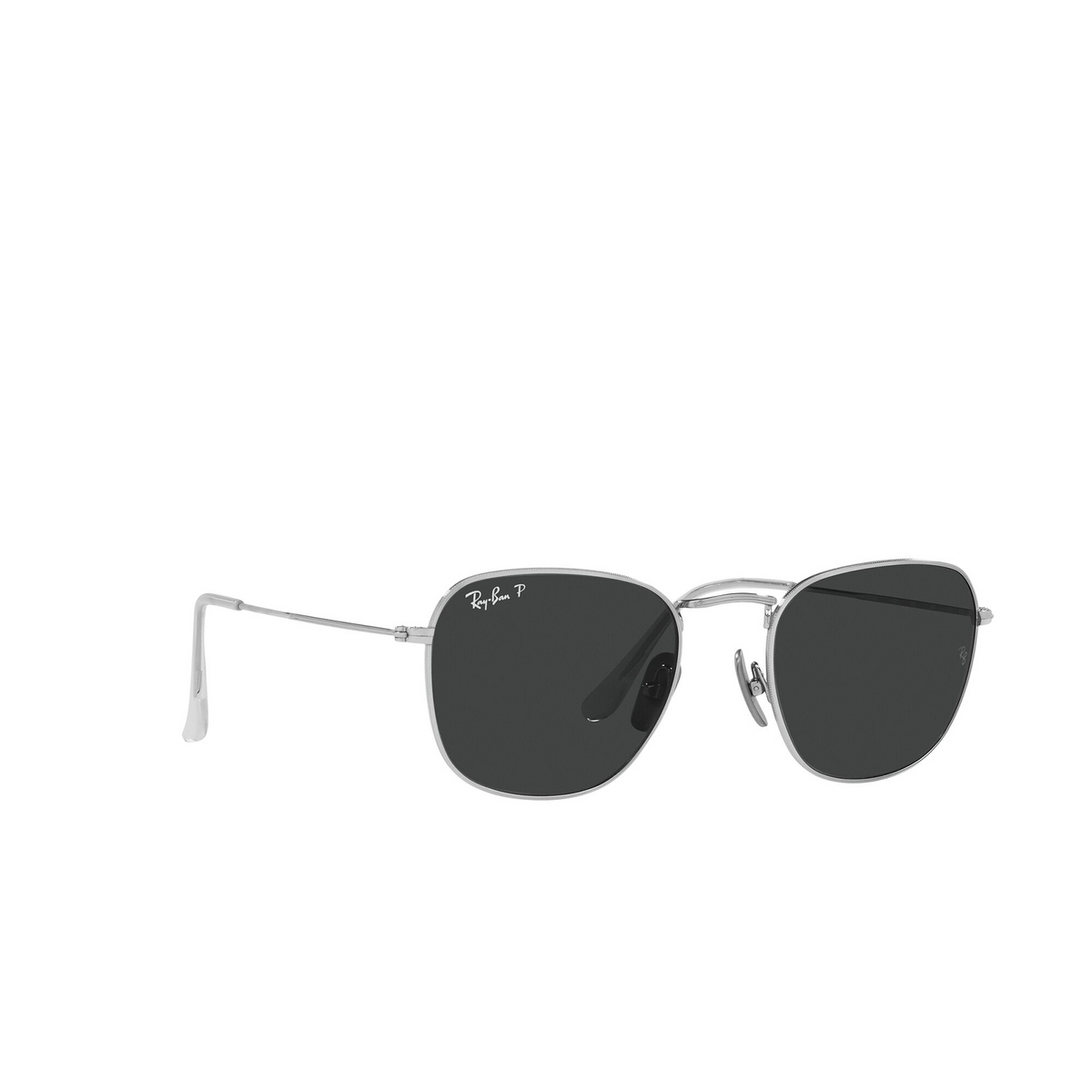 Ray-Ban® Square Sunglasses: Frank RB8157 color Silver 920948 - three-quarters view.