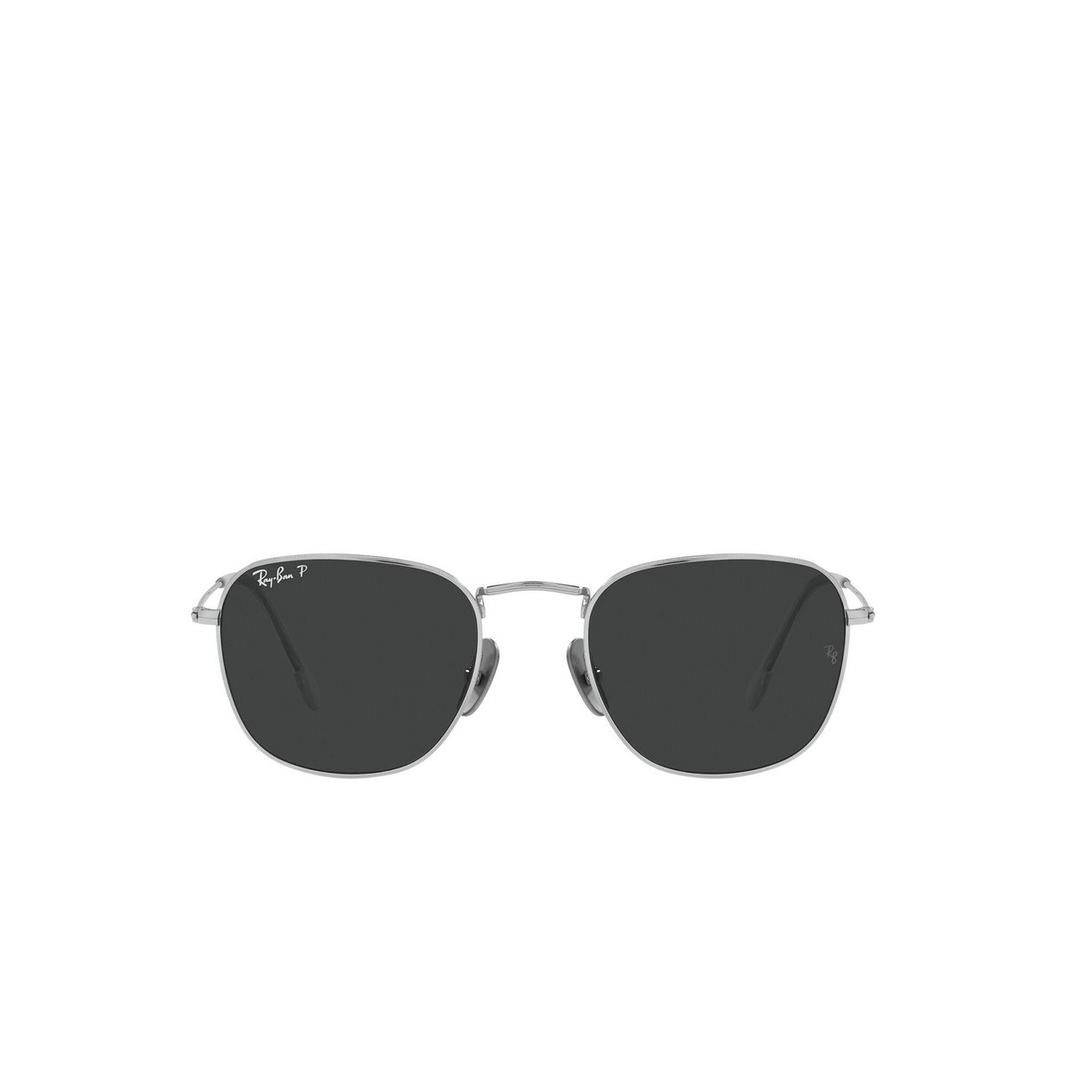Ray-Ban® Square Sunglasses: Frank RB8157 color Silver 920948 - front view.
