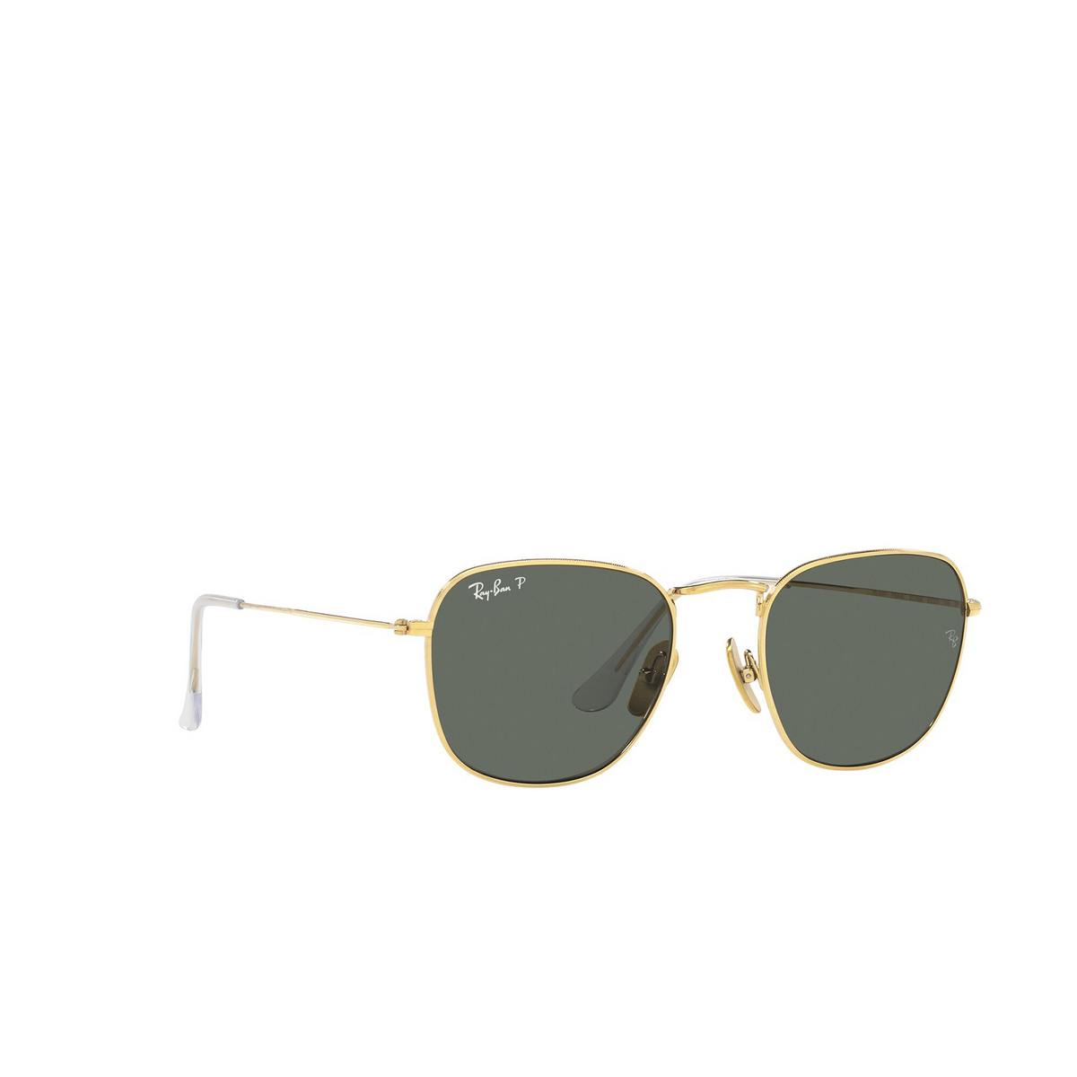 Ray-Ban® Square Sunglasses: Frank RB8157 color Legend Gold 921658 - three-quarters view.