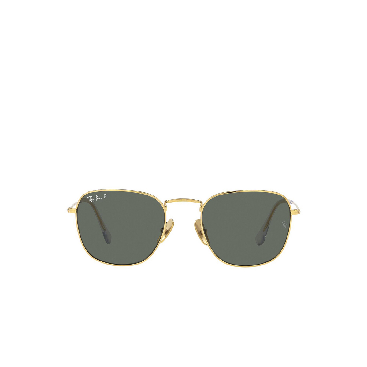 Ray-Ban® Square Sunglasses: Frank RB8157 color Legend Gold 921658 - front view.