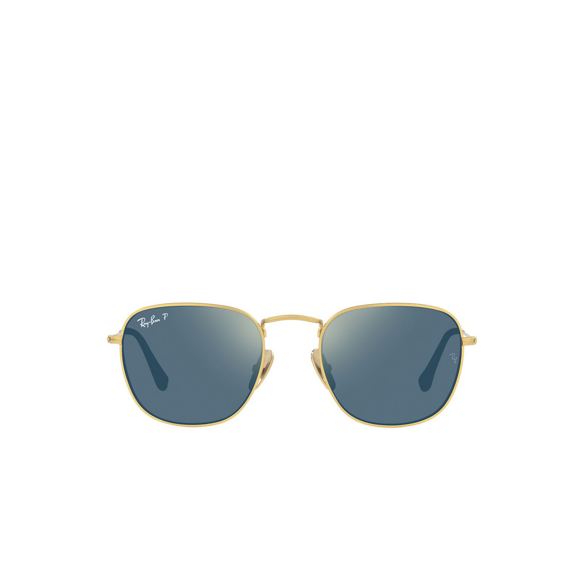 Ray-Ban® Square Sunglasses: Frank RB8157 color Demigloss Brushed Gold 9217T0 - front view.