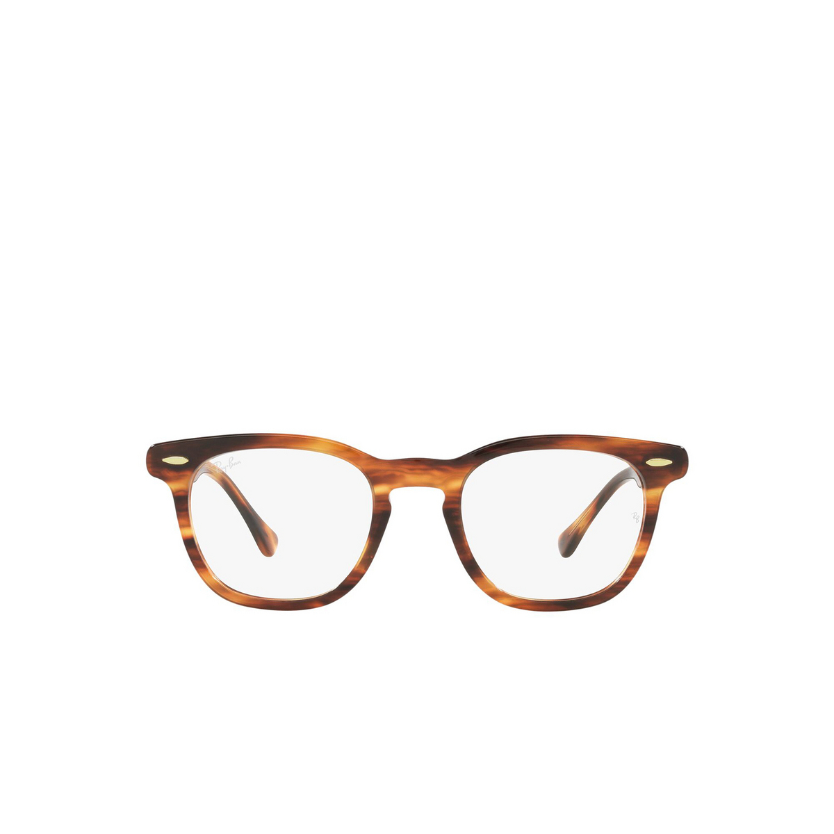 Ray-Ban® Square Eyeglasses: Hawkeye RX5398 color Striped Havana 2144 - front view.